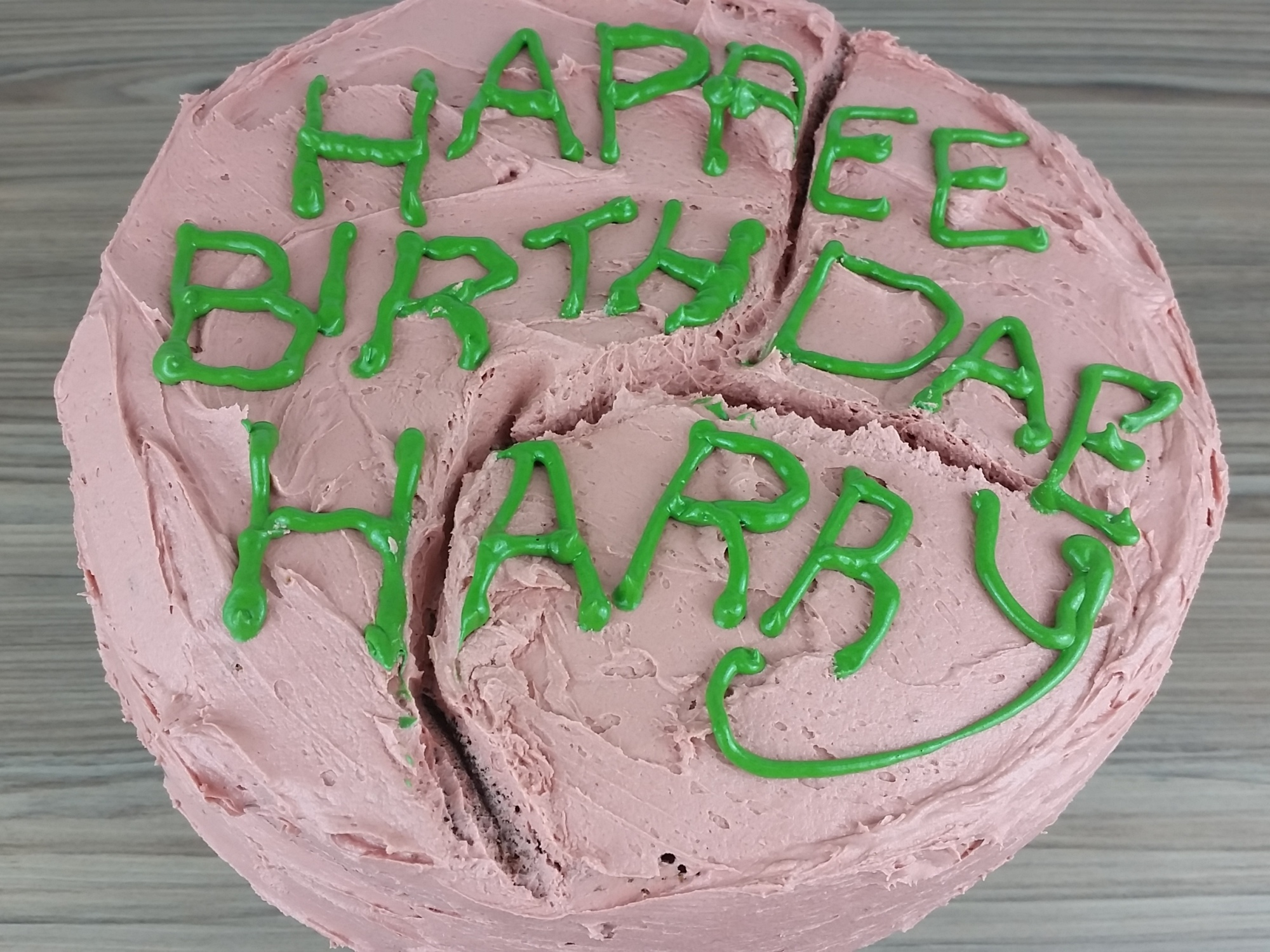 Admirable Harry Potters Birthday Cake From Hagrid Carlytoffle Personalised Birthday Cards Paralily Jamesorg